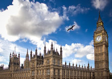 Big Ben and Westminster bridge Stock Images