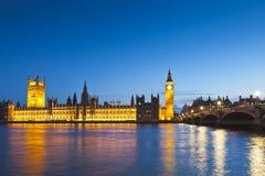 Big Ben, Westminster, Camere del Parlamento, Londra Fotografia Stock