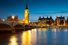 Big Ben Westminster, hus av parlamentet, London Arkivfoto