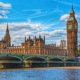 Big Ben & Westminster London Arkivbild