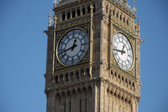 Big Ben, Westminster, London. Clockface of Big Ben, Westminster, London Royalty Free Stock Photography