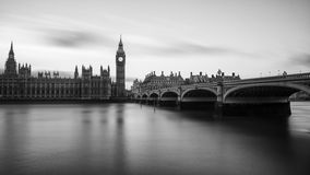 Big Ben at Westminster in London. Big Ben is the nickname for the Great Bell of the clock also known as Clock Tower and Elizabeth Tower is one of the most Stock Photo
