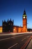 Big Ben from Westminster - London's landmarks. View from Westminster bridge towards Big Ben Stock Photography