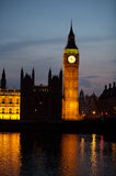 Big Ben and Westminster at night. Photograph Stock Image