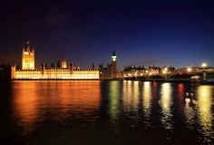 Big Ben and Westminster at night Stock Photography