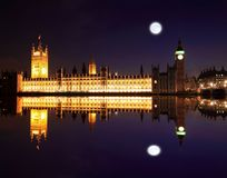Big Ben and Westminster at night stock image
