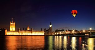 Big Ben and Westminster at night Stock Photos