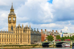 Big Ben and Westminster Palace Royalty Free Stock Images