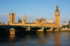 Big Ben and Westminster Palace in London Royalty Free Stock Photography