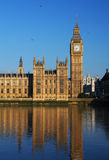 Big Ben and Westminster Palace in London Royalty Free Stock Photos