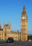 Big Ben and Westminster Palace in London Royalty Free Stock Photo