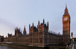 Big Ben and Westminster Palace Royalty Free Stock Photos