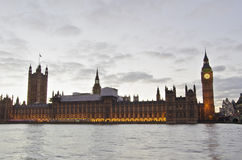 Big Ben and Westminster from the riverside Stock Image
