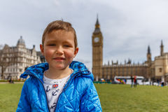 Big Ben and Westminster in spring Stock Image