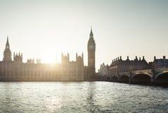 Big Ben and Westminster at sunset, London, UK Stock Photography