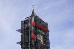 Big Ben wierza w Londyn podczas robot budowlany zdjęcia royalty free