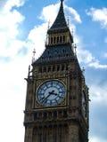 Big Ben wierza, zegarowy zakończenie Obrazy Royalty Free
