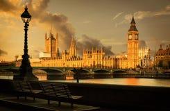 Big Ben y casa del parlamento, Londres Foto de archivo