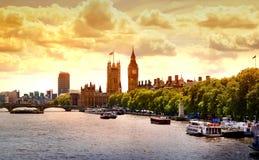 Big Ben y casas del parlamento, Londres Imagen de archivo