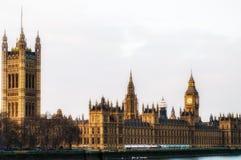 Big Ben y casas del parlamento, Londres, Reino Unido Imagen de archivo