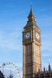Big Ben z Londyńskim okiem w tle Obraz Royalty Free