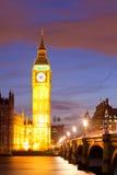 Big Ben zmierzchu zmierzch Fotografia Stock