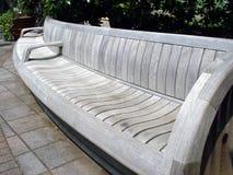 Big Bench. Jumbo bench for seating at the Atlanta Botanical Gardens royalty free stock photography
