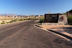 Big Bend Entrance. Entrance Sign at Big Bend National Park, Texas Royalty Free Stock Photo