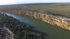 Big Bend on Murray River near Nildottie stock video footage