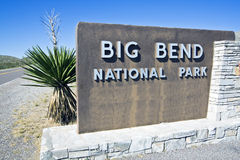 Big Bend National Park. Welcome sign Royalty Free Stock Photo