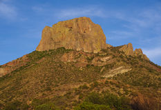 Big Bend National Park Chisos Mountains. Sundown approaches with light on the Chisos Mountains in Big Bend National Park Stock Image