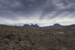 Big Bend National Park - The Mules Ears Stock Image