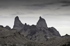 Big Bend National Park - The Mules Ears - Monochrome Stock Photography