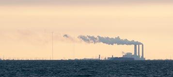 Big Bend Power Plant. In Apollo Beach Florida Royalty Free Stock Photography