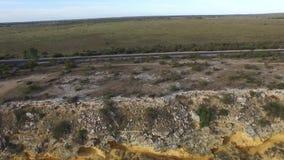 Big Bend on River Murray near Nildottie stock footage