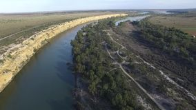 Big Bend on River Murray near Nildottie stock video