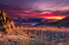 Big Bend Sunset Royalty Free Stock Photos