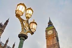 Big- Benkontrollturmborduhr in London, England Lizenzfreies Stockbild