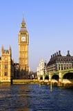 Big- Benund Westminster-Brücke Stockfotos