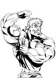 Big biceps. Isolated on a white.illustration Royalty Free Stock Images