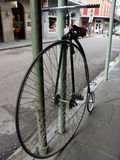 Big Bike. Antique bicycle parked in New Orleans Stock Images