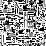 Big bike part vector colletion seamless pattern Royalty Free Stock Photo