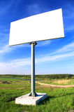 Big billboard. Big blank billboard at the field Royalty Free Stock Photo