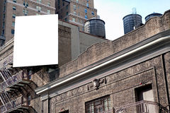 Big billboard and water tanks Stock Photography
