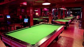 Big billiards club in Pattaya, Thailand Stock Photos