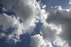 Big Billowy Clouds. With deep sky a great background Stock Images