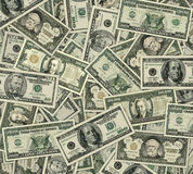 Big Bills. Photo-Illustration of large denomination U.S Currency. I illustrated and used parts from lower denomination bills and old U.S, postage stamps to Royalty Free Stock Photos