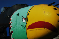Big Bird Fighter Plane. A great vintage mean bird fighter plane Royalty Free Stock Images