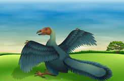 A big bird. Illustration of a big bird Stock Photography