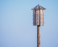 Big birdhouse in winter Royalty Free Stock Photos